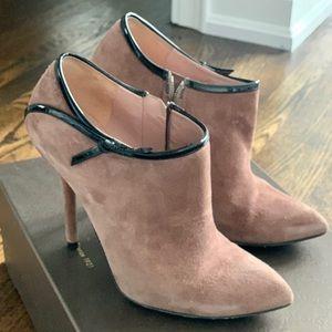 Suede Gucci ankle boots - Mauve - 5.5